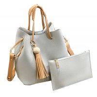 Women Fashion Wild Shoulder Messenger White Color Handbag WB-25W