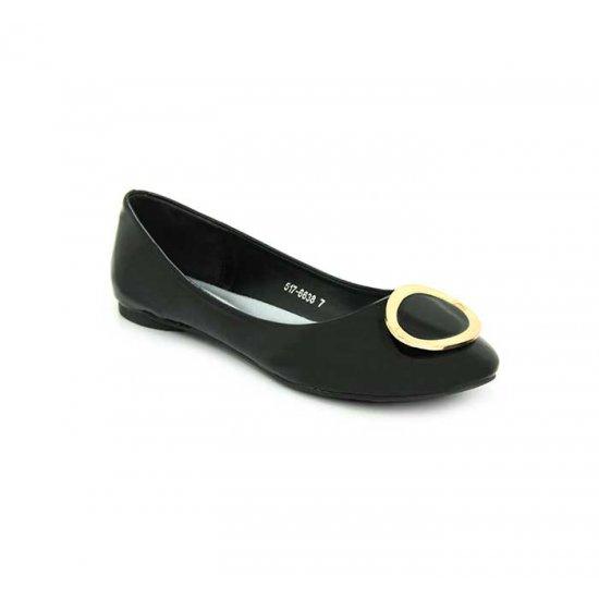 Bata Marie Claire Black Color Ladies Ballet Flats B-108 image d37e4a4966