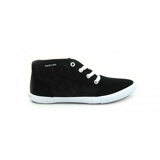 Bata North Star Black Color Sneaker Shoes For Women B-121