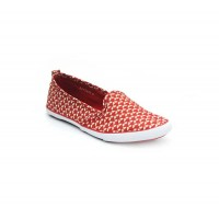 Bata North Star Red Color Womens Casual Shoes B-129