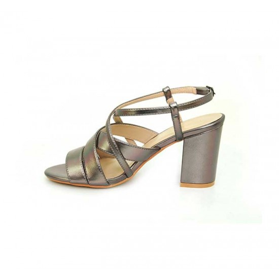 Bata Marie Claire Grey Color Womens Heels B-132