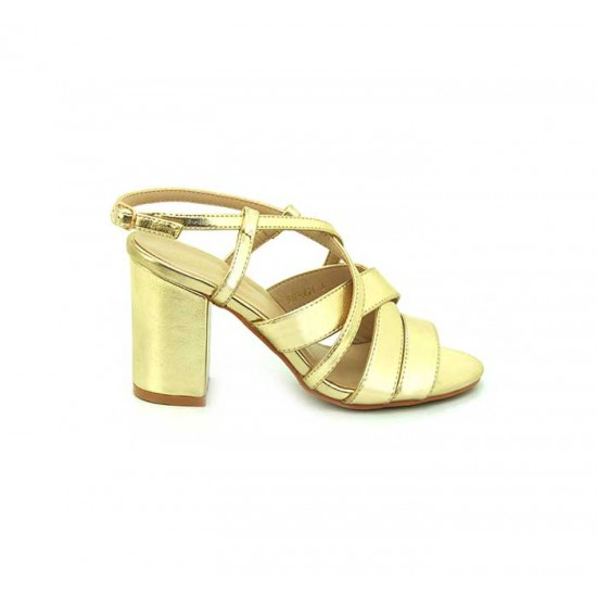 Bata Marie Claire Gold Color Womens Heels B-132