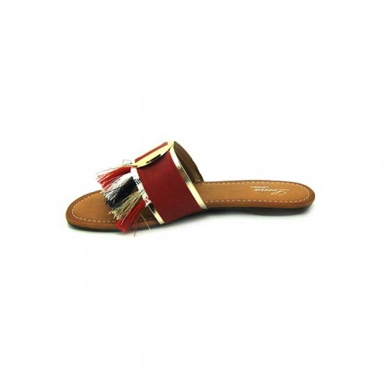 Bata Leena Red Color Women Slipper B-152