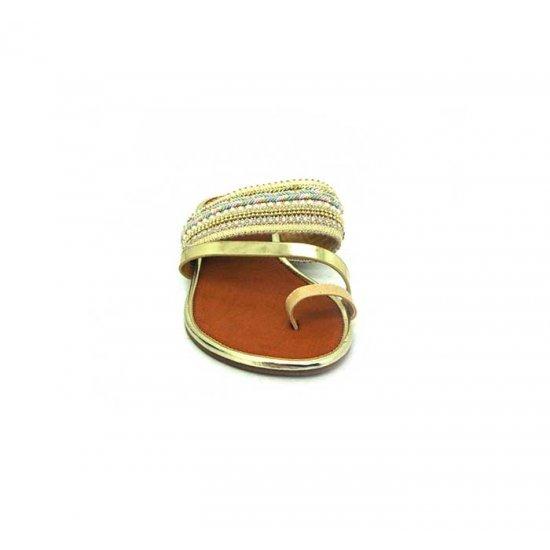Bata Leena Gold Color Women Slipper B-153