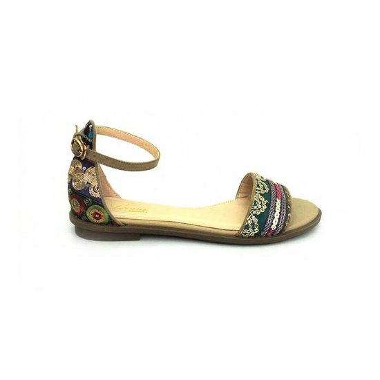 Bata Leena Gold Color Women Sandal B-161