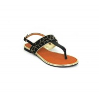 Bata Leena Black Color Women Sandal B-162