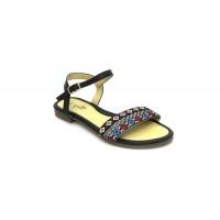 Bata Leena Black Color Women Sandal B-166