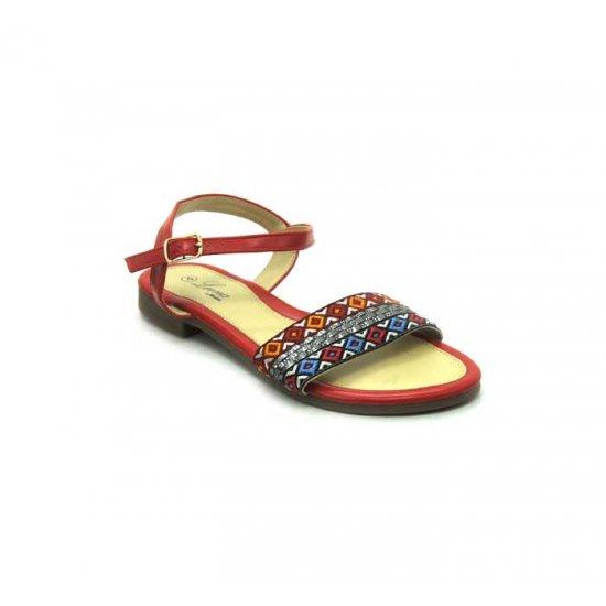 Bata Leena Red Color Women Sandal B-166