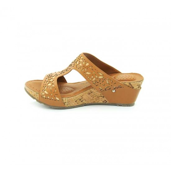 Bata Comfort Tan Color Women Wedge Sandal B-172