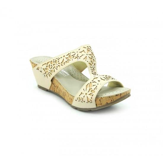 Bata Comfort Grey Color Women Wedge Sandal B-172