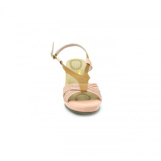 Bata Comfort Pink Color Women Wedge Sandal B-174