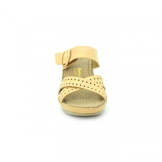 Bata Comfort Gold Color Women Wedge Sandal B-177