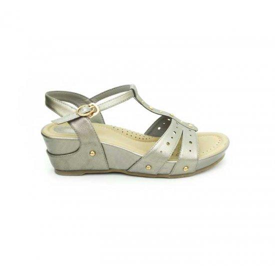 Bata Comfort Grey Color Women Wedge Sandal B-179