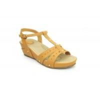 Bata Comfort Tan Color Women Wedge Sandal B-179
