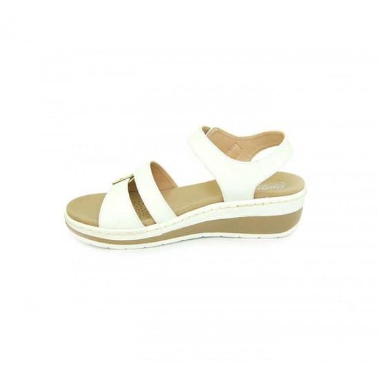 Bata Comfort White Color Women Wedge Sandal B-180
