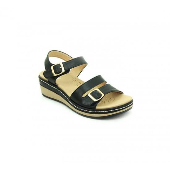 Bata Comfort Black Color Women Wedge Sandal B-180