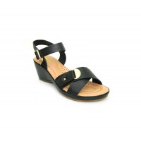Bata Comfort Black Color Women Wedge Sandal B-181