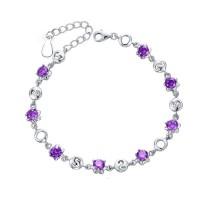 Korean Fashion Purple Color Crystal Bracelet  Women B-03PR