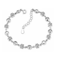 Korean Fashion Silver Color Crystal Bracelet  Women SB-03S