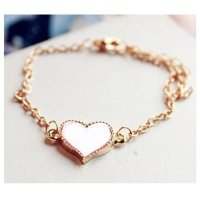 Korean Fashion White Color Heart Love Clover Bracelet For Women SB-04W
