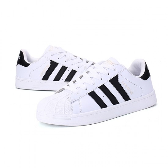 Black Color Classic Three Bars Shell Head Board Shoes For Womens S-53