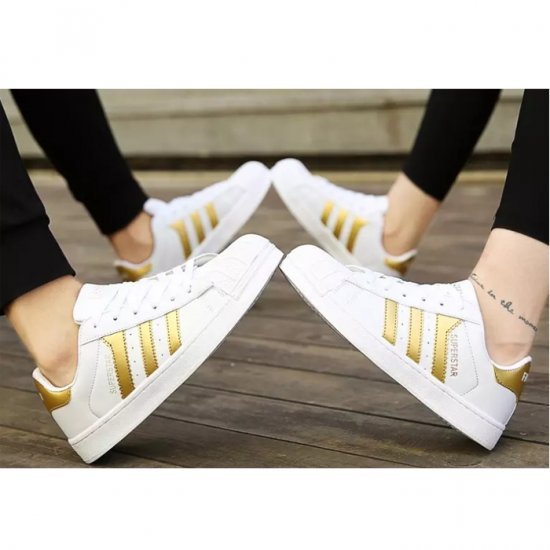 Gold Color Classic Three Bars Shell Head Board Shoes For Womens S-53 image