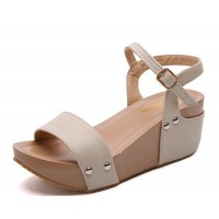 Thick Base Slope With High Heeled Waterproof Womens Sandals S-54