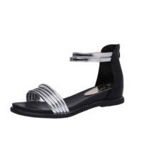 Silver Color Round Head Folder Toe Roman Womens Sandals S-56