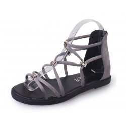 Grey Color Tide Rome Strip With Open Toe Womens Sandals S-60