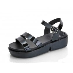 Black Color  Summer Thick Open Toe Womens Sandals S-62