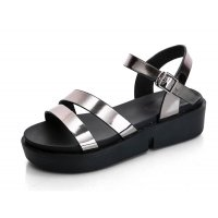 Silver Color  Summer Thick Open Toe Womens Sandals S-62