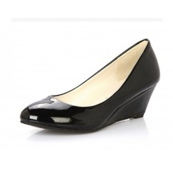 Women Black Slope Flat Bottom Shoes S-64