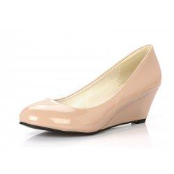 Women Cream Slope Flat Bottom Shoes S-64