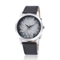 OKTIME Belt Lotus Fashion Black Color Ladies Leather Watch W-03