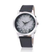 OKTIME Belt Lotus Fashion Black Color Ladies Leather Watch W-03