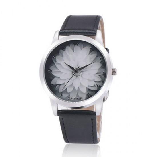 OKTIME Belt Lotus Fashion Black Color Ladies Leather Watch W-03 image