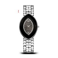 Silver Color Oval  Eye Shape Personality Women Quartz Watch W-10