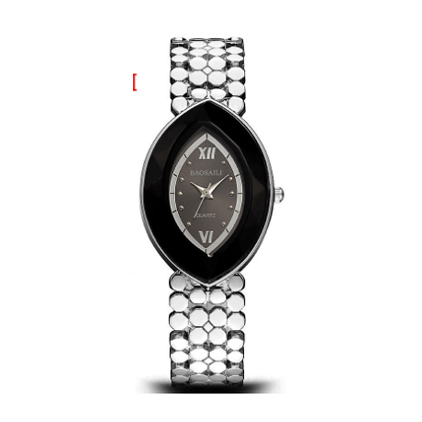 Silver Color Oval  Eye Shape Personality Women Quartz Watch W-10|image