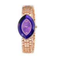 Rose Gold Color Oval  Eye Shape Personality Women Quartz Watch W-10