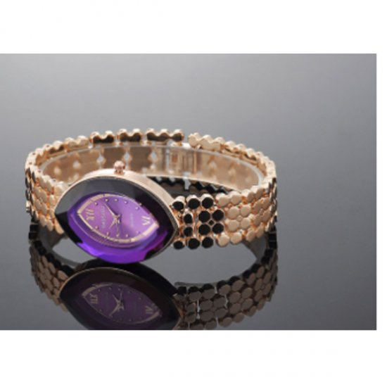 Rose Gold Color Oval Eye Shape Personality Women Quartz Watch W-10 image
