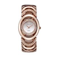 Rose Gold Color Elegant Steel Belt Diamond Ladies Bracelet Watch W-11