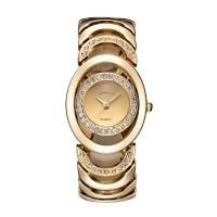 Gold Color Elegant Steel Belt Diamond Ladies Bracelet Watch W-11
