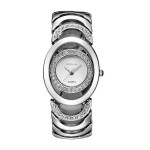 Silver Color Elegant Steel Belt Diamond Ladies Bracelet Watch W-11| image