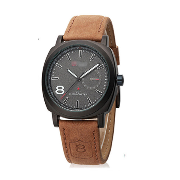 Black Color Sports Leisure Fashion Military Table Men Watches W-12 image