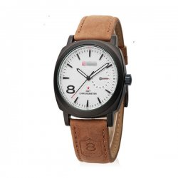 Silver Color Sports Leisure Fashion Military Table Men Watches W-12