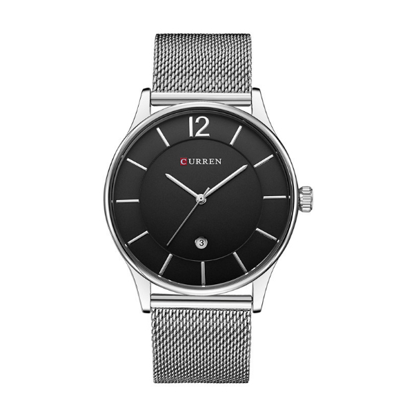 CURREN Casual Silver Color Men Watches W-15 image