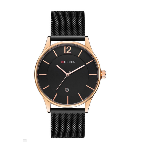 CURREN Casual Gold Color Men Watches W-15 image