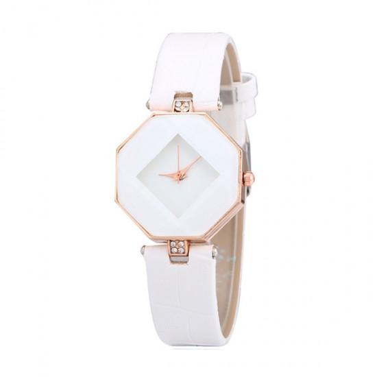 Korean Fashion White Color Temperament Diamond Ladies Watch W-16 image