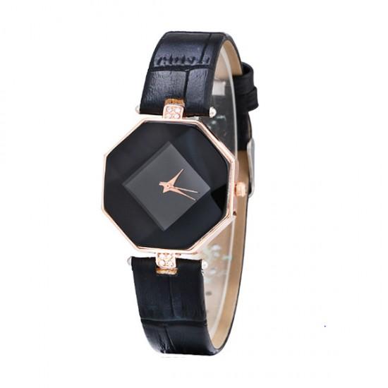 Korean Fashion Black Color Temperament Diamond Ladies Watch W-16 image