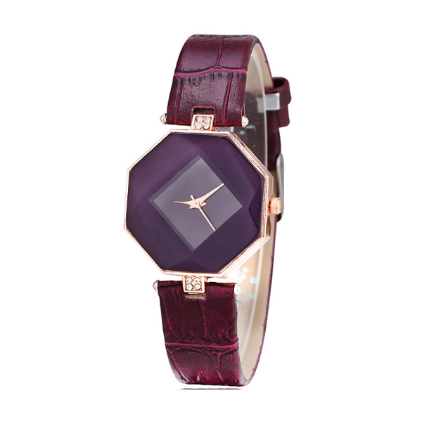 Korean Fashion Purple Color Temperament Diamond Ladies Watch W-16 image